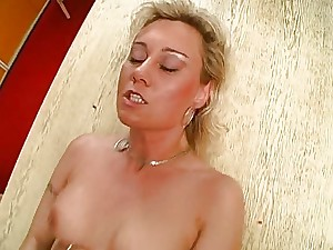 Golden-haired german older milf receive it in a-hole troia