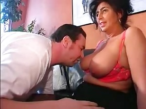 German Breasty Aged does her hubby