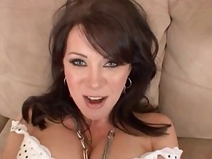 Sexy Breasty Dark brown Cougar POV