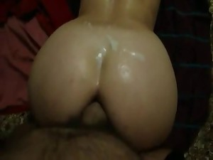 Anal from aback and cum charge