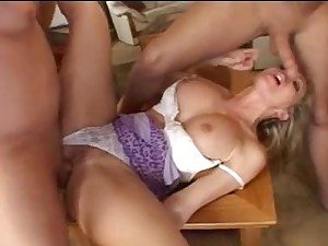 All red milf in lengthy run, with dp