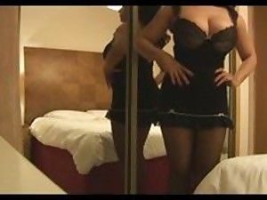 Ambitious wobblers aged milf Danica in nylons and constricted underwear discussions