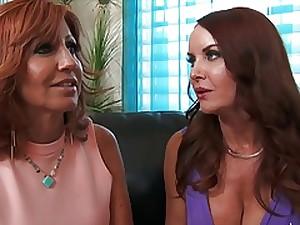 2 cougars fuck a youthful masculine
