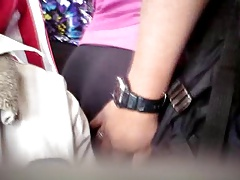 GROPED THE Tip-top Huge Gazoo MILF OF THE LEGGINS ON THE BUS 2