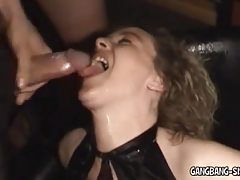 Non-professional Bukkake and Group-sex Wife